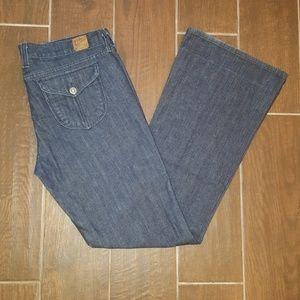 """Lucky Brand Zoe Jean Flare Wide Leg 31"""" Long"""
